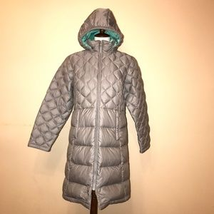 The North Face Girl Puffer Jacket Gray Size XL(18)